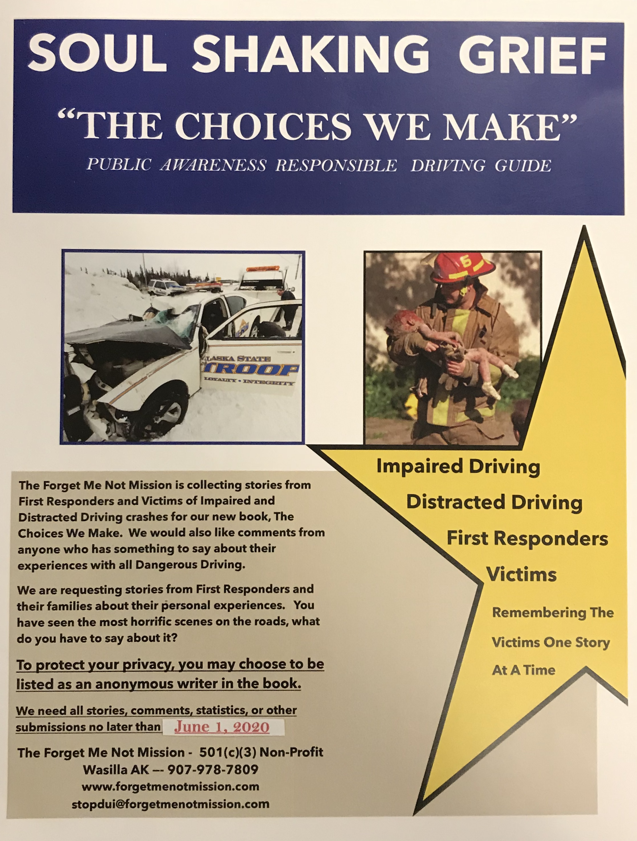 Soul Shaking Grief The Choices We Make Edition Flyer